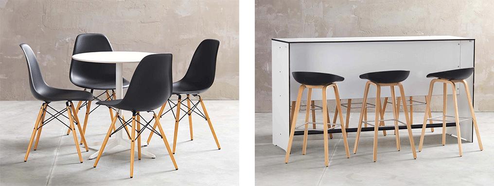 Bilder mit 4 Stühlen und einem Tisch